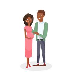 African american couple vector