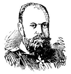 Alexander iii vintage vector