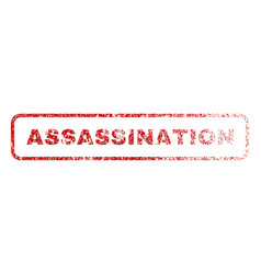 Assassination rubber stamp vector
