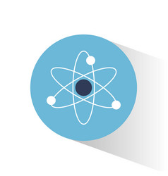 atom molecule science school vector image