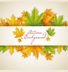 autumn natural template vector image
