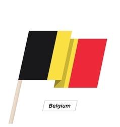 Belgium Ribbon Waving Flag Isolated on White vector image