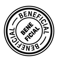 beneficial stamp in italian vector image
