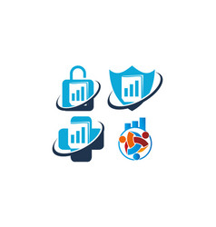 business success solutions set vector image