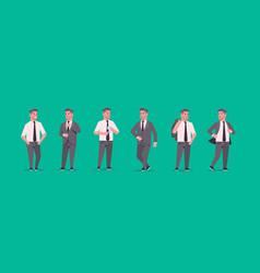 businessmen in formal wear standing different vector image