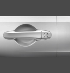 car door with handle and keyhole vector image