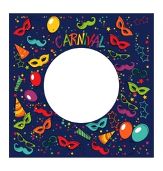 Carnival template vector