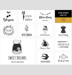 Collection of modern logos and vector