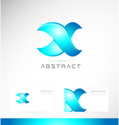 Corporate blue sign logo icon design vector