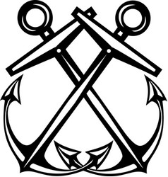 crossed anchors vector image