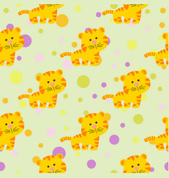cute african tiger in cartoon style vector image