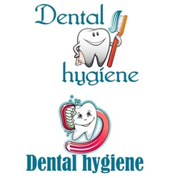 Dental hygiene logo vector