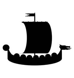 Drakkar icon vector image