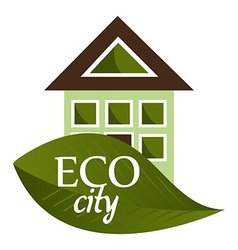 Eco city design vector image vector image