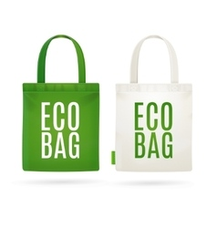 Eco Fabric Cloth Bag Tote vector image