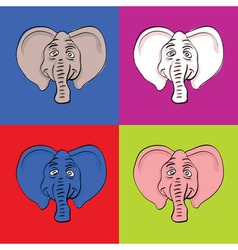 Elephant pop art vector