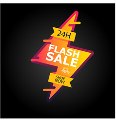 Flash sale up to 60 24 h shop now image vector