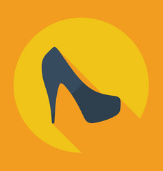 Flat modern design with shadow icon women39s shoes vector