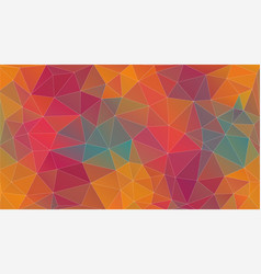 fresh vintage color triangle background vector image