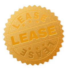 Gold lease award stamp vector