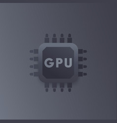 Gpu graphic chipset icon vector
