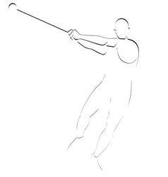 Hammer throwing vector image