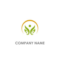 happy lotus flower company logo vector image