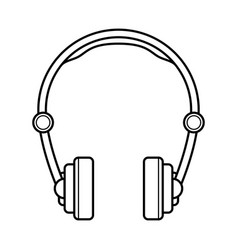 Headphones line art simple gadget icon vector