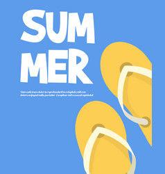 Holiday summer and summer camp vector