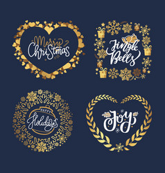 holly jolly quote merry christmas new year holiday vector image