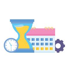 hourglass clock calendar vector image
