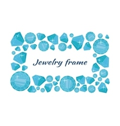Jewelry Frame Concept In Flat Design vector image
