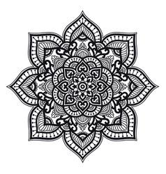 Mandala circle ethnic ornament hand drawn vector