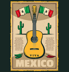 mexican holiday cinco de mayo fiesta sketch poster vector image