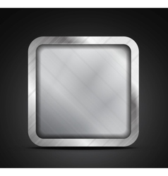 Mobile app icon - empty metallic texture box vector image