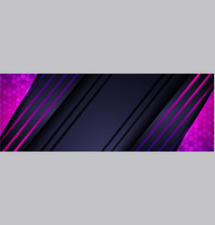 Modern futuristic navy background with purple vector
