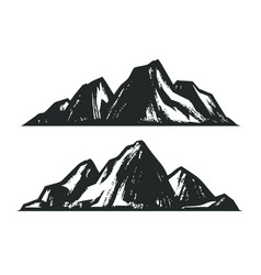 mountains sketch mountaineering vintage vector image