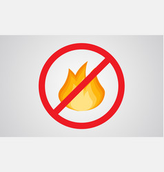 not fire icon sign symbol vector image