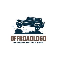 Off-road car logo safari suv expedition offroader vector