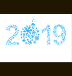 original new year 2019 vector image