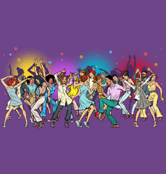 party at the club dancing young people vector image