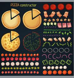 Pizza constructor cartoon vector