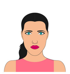 portrait of a woman face of girl vector image