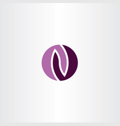 purple logo o letter logotype symbol element vector image
