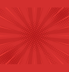 red retro vintage style background with sun rays vector image