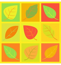 retro leaves illustration vector image