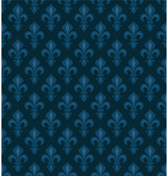 royal heraldic lilies seamless pattern vector image