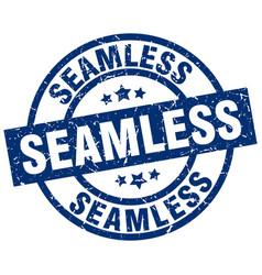 Seamless blue round grunge stamp vector
