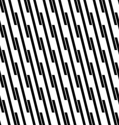 Seamless monochrome angular line pattern vector