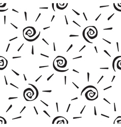 seamless pattern sun vector image